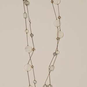 White and clear necklace
